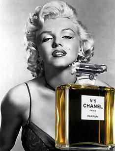 Resultado de imagen de Marilyn y chanel nº 5