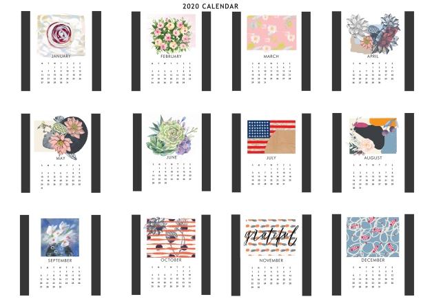 etsy calendar template2020
